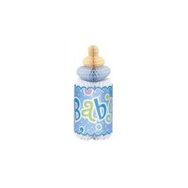 Rozetková flaša baby boy dots