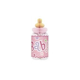 Rozetková flaša baby girl dots