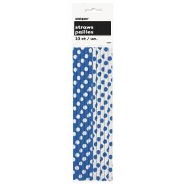 Slamky papierové modré