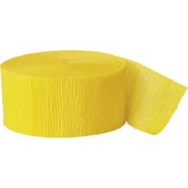 Krepový papier sýto-žltá