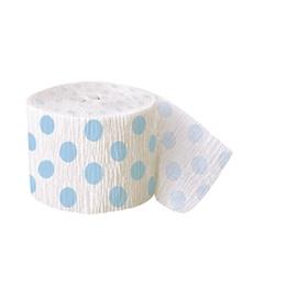 Krepový papier belasé bodky