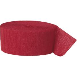 Krepový papier červená