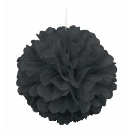 Nariasená pompónová guľa čierna