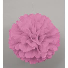 Nariasená pompónová guľa ružová