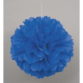 Nariasená pompónová guľa modrá