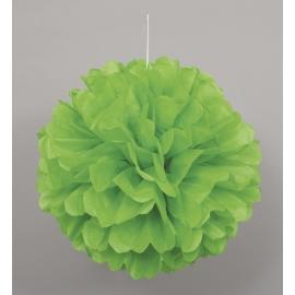 Nariasená pompónová guľa limetková zelená