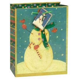 Vianočná taška snehuliačik