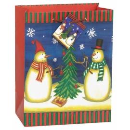 Vianočná taška snehuliaci