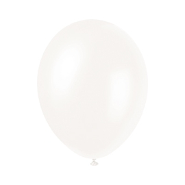 Perleťové balóny biele 10 ks