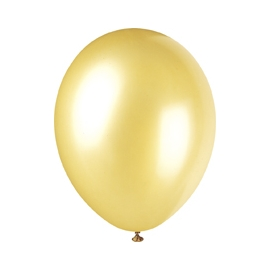 Perleťové balóny zlaté