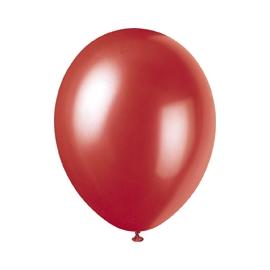 Perleťové balóny červené