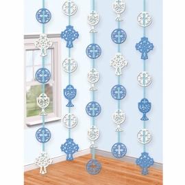 Závesné dekorácie krížik modré