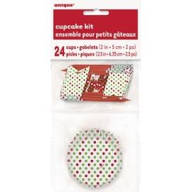 Košíčky na muffiny dots zeleno-červené