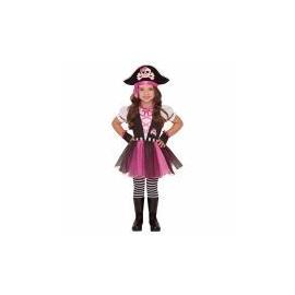 Kostým rúžový, pirátka 4-6 rokov