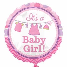 Fóliový balón It´s a Baby girl
