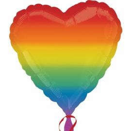 Fóliový balón srdce dúhové