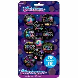 Odznaky na disco party 70-te roky