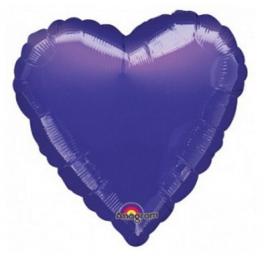 Foliový balón tmavo-fialové srdce