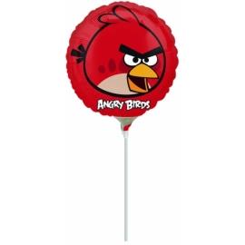 Mini fóliový balón Angry Birds červený