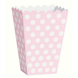 Košíky rúžové s bodkami