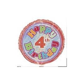 Fóliový balón happy birthday 4th