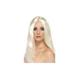 Parochňa biele dlhé vlasy
