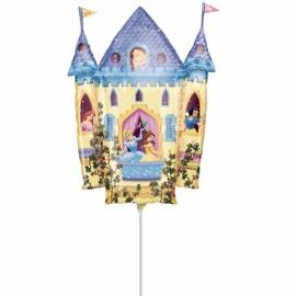 mini fóliový balón princezné hrad