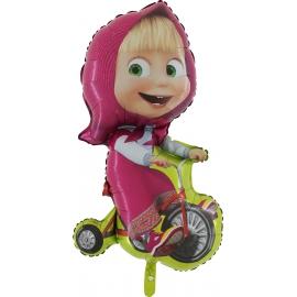 MAXI fóliový balón Máša na bicykli