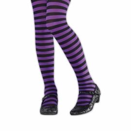 Pančucháče pruhované purple-black