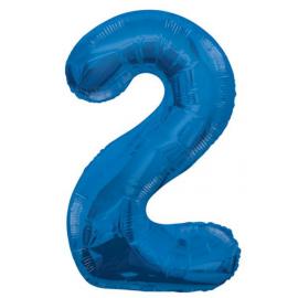 MAXI modrý fóliový balón 2. narodeniny