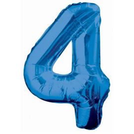 MAXI modrý fóliový balón 4. narodeniny