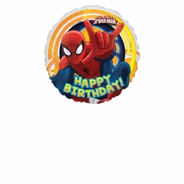 fóliový balón spiderman happy birthday