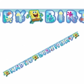 Banner Spongebob happy birthday