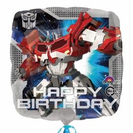 Foliový balón Happy Birthday Transformers