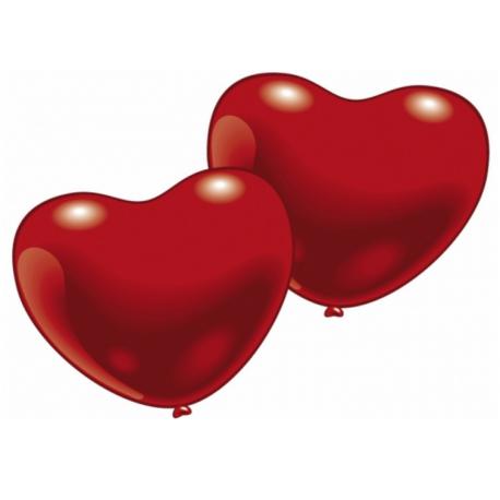 Balóny červené srdiečka