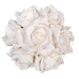 Kytica ruží biela 20cm