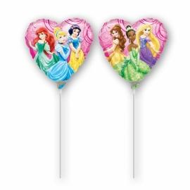 Mini fóliový balón Disney Princess Srdce