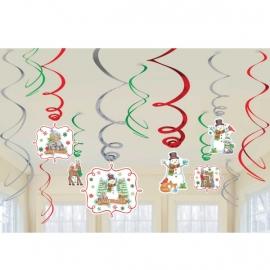 Vianočná visiaca dekorácia snehuliaci