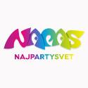 Škraboška modrá s pierkom a šperkom
