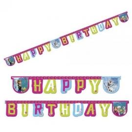 Banner Frozen happy birthday