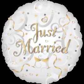 Svadobný balón Just Married