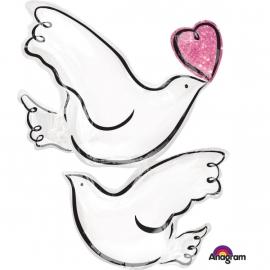 Svadobný balón holubice