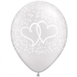 Svadobné balóny SRDCIA zlaté/strieborné
