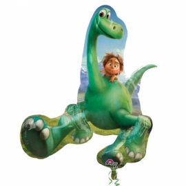 Fóliový balón Dinosaurus a chlapček