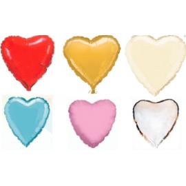 Fóliový balón srdce - rôzne farby