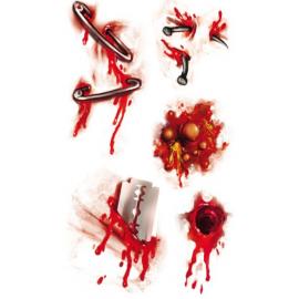 Nálepky na telo krvavé rany