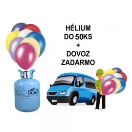 Hélium do 50 ks balónov s donáškou ZADARMO