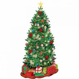 Vianočný stromček dekorácia na stenu