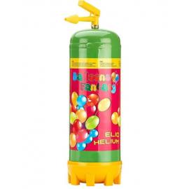 Héliová fľaša na 28 balónov