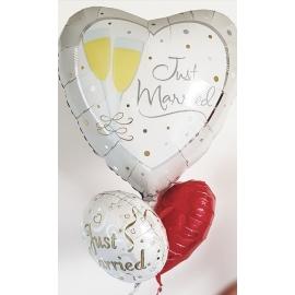 Svadobná kytica s balónov MEGA